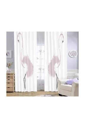 Bebişim Halı Flamingo Bi58  Çocuk Odası Fon Perde 140x275 cm 0
