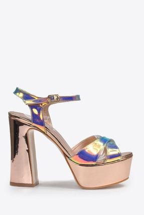 Vizon Ayakkabı Kadın  Bakır Klasik Topuklu Ayakkabı VZN20-044Y 1