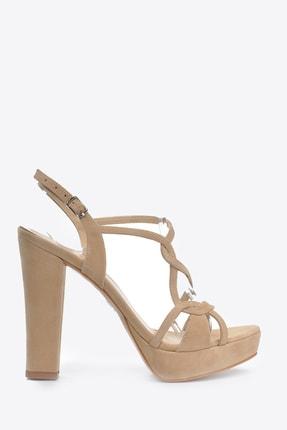Vizon Ayakkabı Kadın  Ten-Süet Klasik Topuklu Ayakkabı VZN20-034Y 1