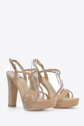Vizon Ayakkabı Kadın  Ten-Süet Klasik Topuklu Ayakkabı VZN20-034Y 4