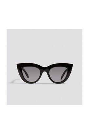 Cat Eye Kalın Çerçeveli Özel Tasarım Bayan Güneş Gözlüğü resmi