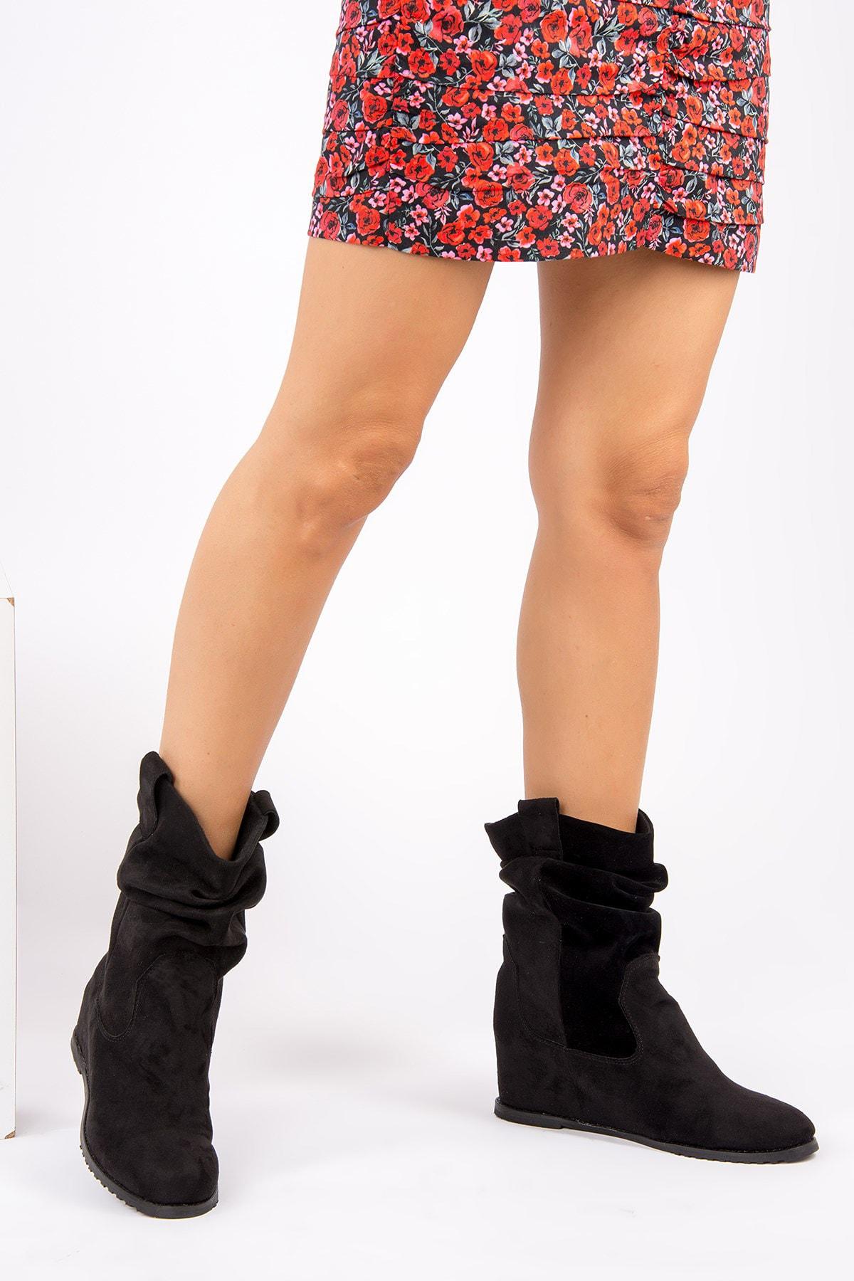 Fox Shoes Siyah Kadın Bot