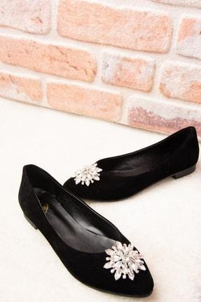 Fox Shoes Siyah Kadın Babet H726511702 2
