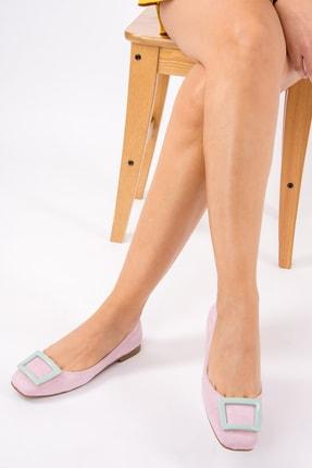 Fox Shoes Lila Su Yeşili Kadın Babet H726452002 2