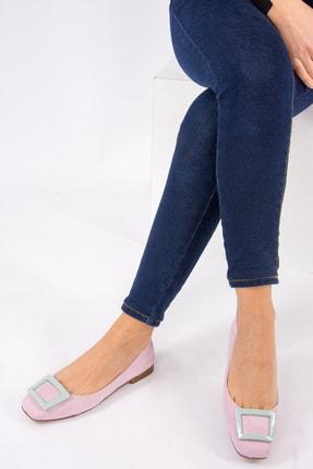 Fox Shoes Lila Su Yeşili Kadın Babet H726452002 3