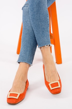 Fox Shoes Turuncu/Ten Kadın Babet H726452002 0