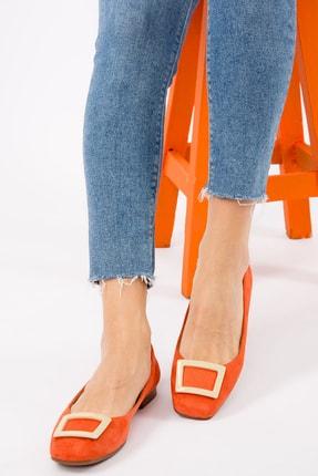 Fox Shoes Turuncu/Ten Kadın Babet H726452002 1