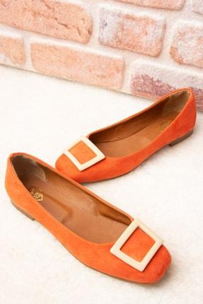 Fox Shoes Turuncu/Ten Kadın Babet H726452002 2