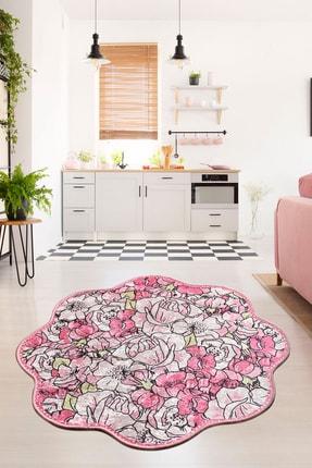 Chilai Home Rosa Pink Shape Djt Salon Dekoratif Modern Halı 1