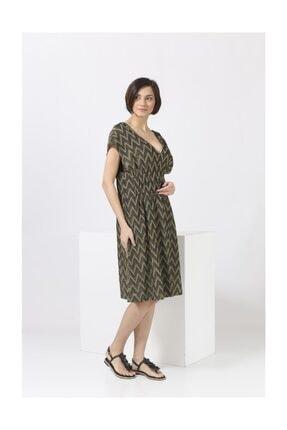 Missoni Kadın Sırt Dekolteli , Altın Desen , Midi Elbise 1
