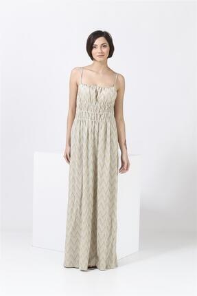 Missoni Askılı , Altın Desenli , Maxi Elbise 0