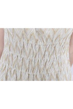 Missoni Askılı , Altın Desenli , Maxi Elbise 3