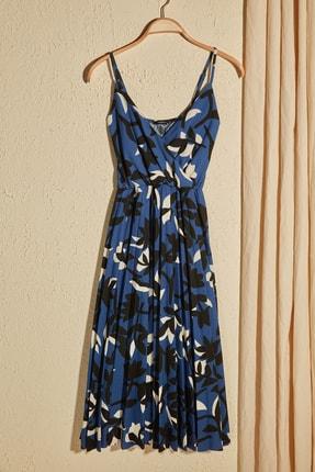 TRENDYOLMİLLA Çok Renkli Çiçek Desenli Örme Elbise TWOSS20EL2729 0