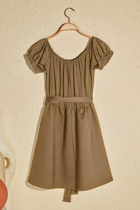 TRENDYOLMİLLA Haki Kuşak Detaylı Örme Elbise TWOSS20EL2764 2
