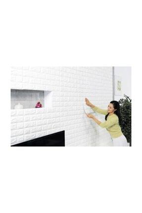 hedefsan Kendinden Yapışkanlı Duvar Paneli 3d Tuğla Beyaz 2