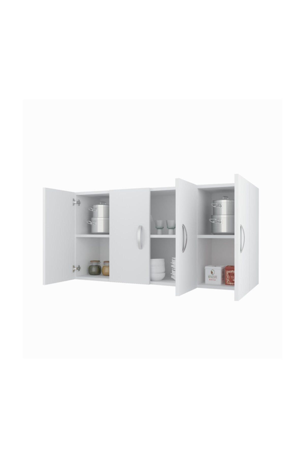 Banyo Dolabı Ruslana Byz 060*120*22 Mutfak Ofis Dolabı Kitaplık Kapaklı Raflı