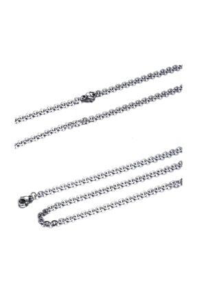 Chavin Kadın Erkek Çelik Kolye Zinciri dg89 55 cm 2.5 mm 0