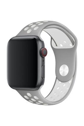 Melefoni Apple Watch 44 mm Spor Delikli Kordon Silikon Kayış 0