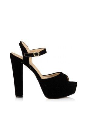 sothe shoes Siyah Süet Bayan Platform Kalın Topuklu Kadın Ayakkabı 1