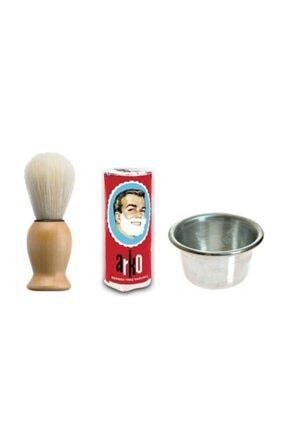 Arko Sakal Fırçası + Arko Sabun + Köpürtme Tası Tıraş Seti 0