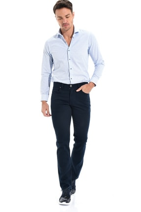 Morven Erkek 5 Cep Pamuklu Pantolon Lacivert 0