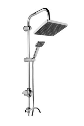 İndirimKap Robot Kare Tepe Duş Sistemi Çok Fonksiyonlu Yağmurlama Duş Seti Beyaz Su 0