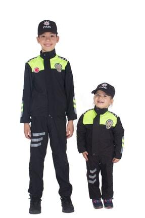Sevimli Kids Şahin Motorize Trafik Polis Kostümü Çocuk Kıyafeti 1
