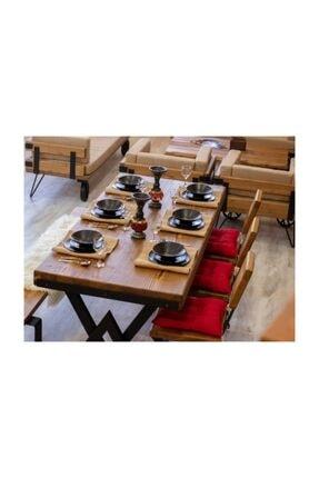 NT Concept Masif Ağaç Yemek Masası - 85cm-185cm Masa 0