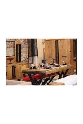 NT Concept Masif Ağaç Yemek Masası - 85cm-185cm Masa 3