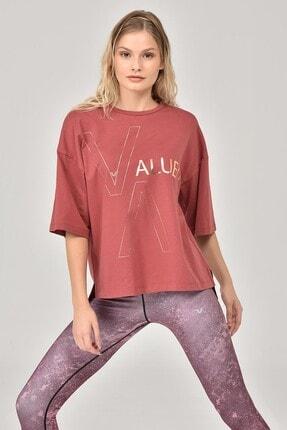 bilcee Kahverengi Kadın T-Shirt FW-1332 3