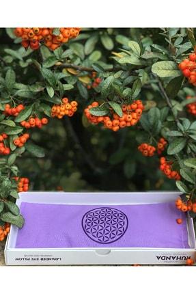 Ruhanda Yaşam Çiçeği Sembollü Mor Lavantalı Göz Yastığı 1