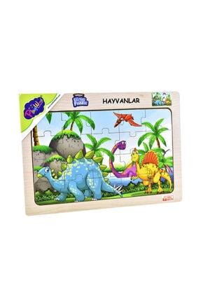 ONYIL OYUNCAK Playwood Ahşap Eğitici Puzzle Hayvanlar Dinazor 0