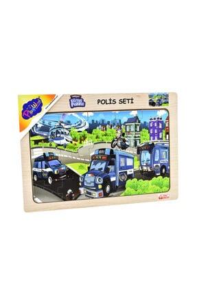 ONYIL OYUNCAK Playwood Ahşap Eğitici Puzzle Polis Seti 0