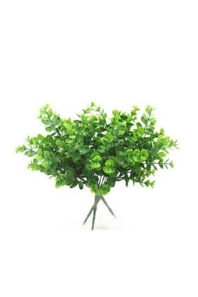 Nettenevime Yapay Çiçek Şimşir Demet Garnitür Yeşil Aradal Dekoratif Yapay Bitki 4
