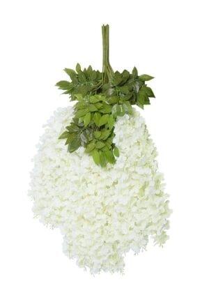 Nettenevime Sarkan Yapay Çiçek Akasya Beyaz 80 Cm 3 Sarkan Dallı 12 Adet Bağ 0