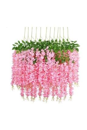 Nettenevime Sarkan Yapay Çiçek Akasya Pembe 80 Cm 3 Sarkan Dallı 12 Adet Bağ 0