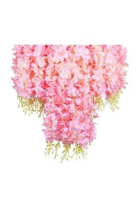 Nettenevime Sarkan Yapay Çiçek Akasya Pembe 80 Cm 3 Sarkan Dallı 12 Adet Bağ 3