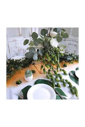 Nettenevime Yapay Çiçek Sarkan Yeşil Bitki Pudralı Başak Doğal Çiçek Dekoru 60 cm 4