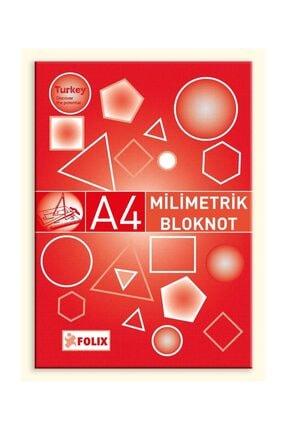 Etika Milimetrik Teknik Resim Bloknot A4 Kırmızı 30 Yaprak 6 Ad. 0