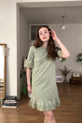 TRENDYOLMİLLA Mint Dantelli Ve Volanlı Örme Elbise TWOSS20EL3112 2