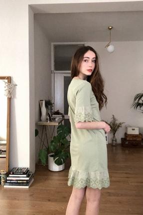 TRENDYOLMİLLA Mint Dantelli Ve Volanlı Örme Elbise TWOSS20EL3112 4