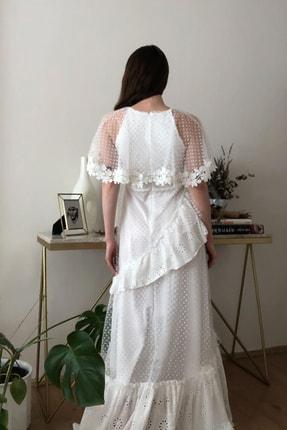 TRENDYOLMİLLA Ekru Aplike Detaylı Abiye & Mezuniyet Elbisesi TPRSS20AE0114 4