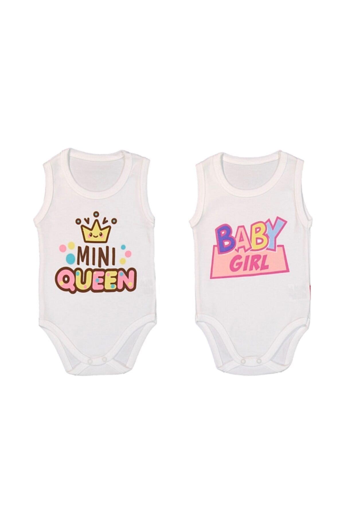 Lullaby Baby 2 Adet Pamuklu Kız Erkek Bebek Çocuk Çıtçıtlı Badi Baby Girl Mini Queen