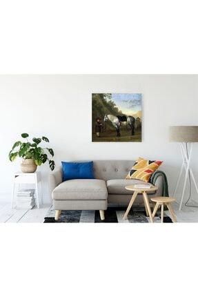 TABLO KANVAS Abraham Van Calraet A Boy Holding A Grey Horse Kanvas Tablo 0