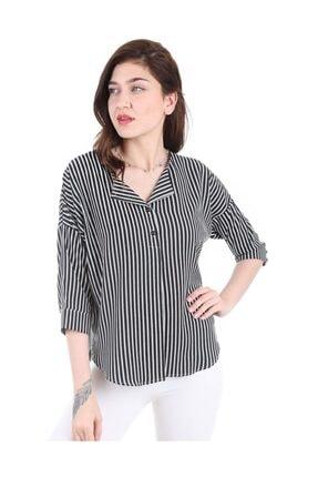 Bigdart Kadın Siyah Top Düğmeli Bluz 0355bgd19_001 4