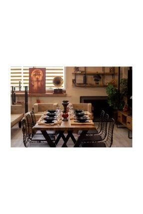 NT Concept Masif Ağaç Yemek Masası - 85cm-185cm Masa 2