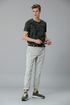 Picture of Andro Spor Chino Pantolon Tailored Fit Taş