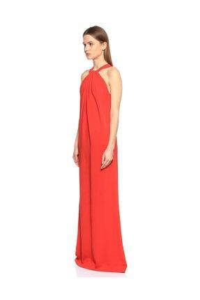 Lanvin Kırmızı Uzun Gece Elbisesi 1