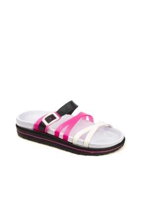 Calx Kız Çocuk Terlik Sandalet Plaj Havuz Beyaz Lacivert 0