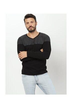Twister Jeans Sıfır Yaka Antramelanj Triko Et 3401 2